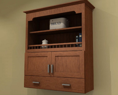 Open Shelf Wall Cabinets